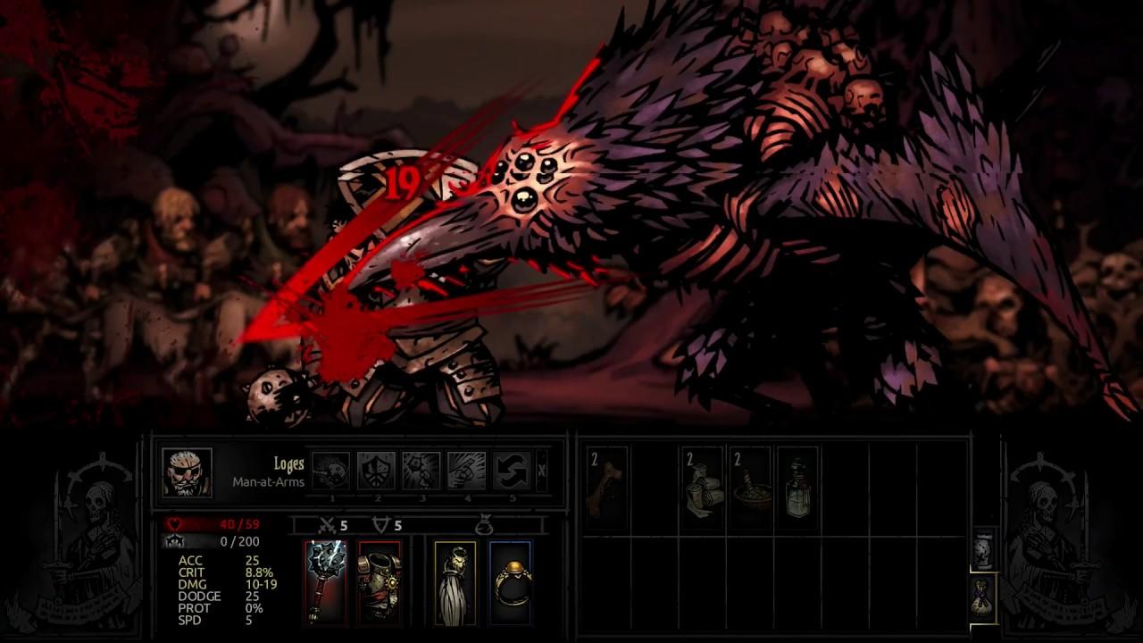 Darkest Dungeon Horrid Shrieker Boss Fight Killing Nest And Shrieker Youtube