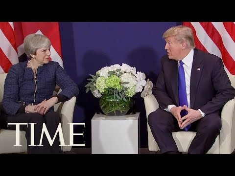 President Trump Meets With Prime Minister May At The World Economic Forum | TIME