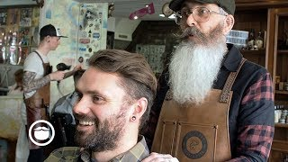 Master Barber Gives Beard Advice and Haircut