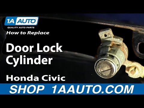 How to Install Replace Door Lock Cylinder 2003-05 Honda Civic