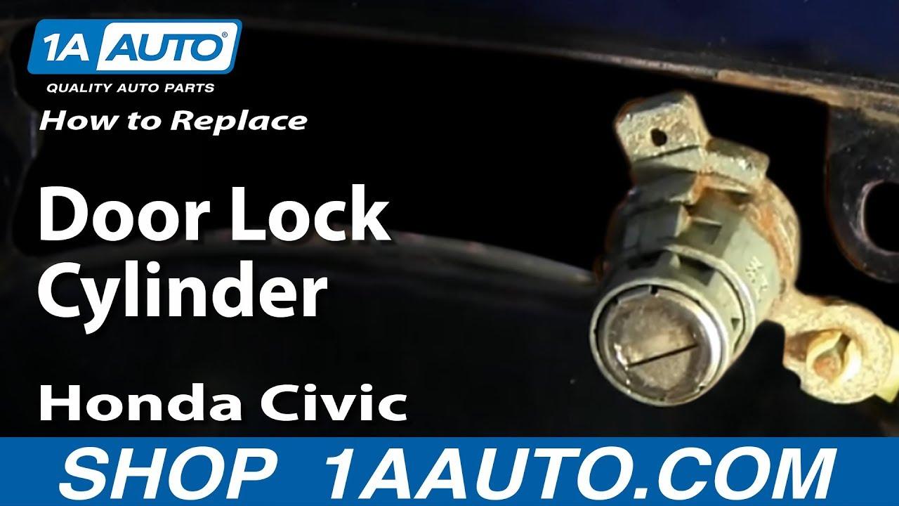 how to replace door lock cylinder 03 05 honda civic [ 1280 x 720 Pixel ]