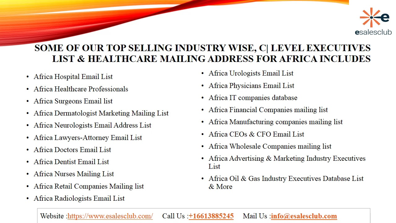 Best Africa Business Email List | African Business Mailing