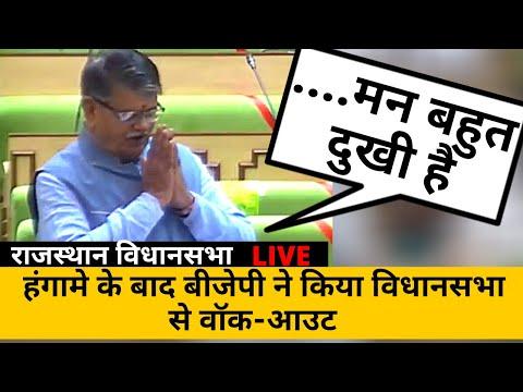 हंगामे के बाद BJP ने किया विधानसभा से walkout | Rajasthan Vidhan sabha