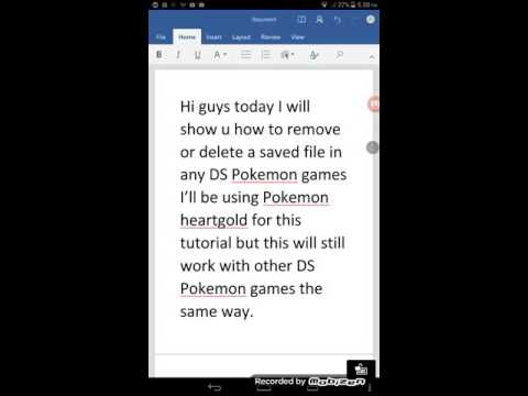 How to delete saved files in Pokemon heartgold