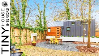 Unique Modern Tiny House With A Full Kitchen And A Beautiful Full Bathroom | Tiny House Interiors