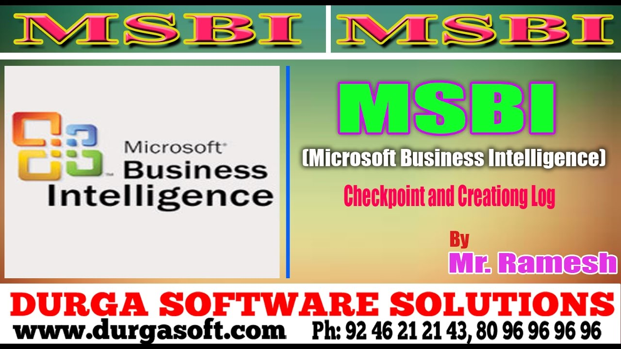 MSBI Tutorial ||online training|| Checkpoint and Creationg Log by Ramesh