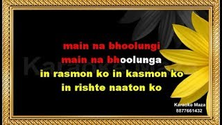 Main Na Bhoolunga Karaoke With Female Voice