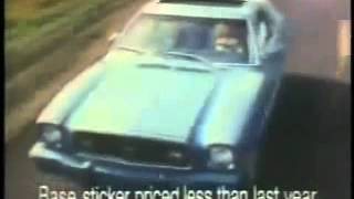 1978 ford mustang commercial