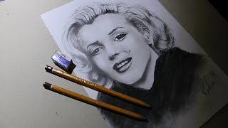 Marilyn Monroe speed drawing - 59 seconds ...