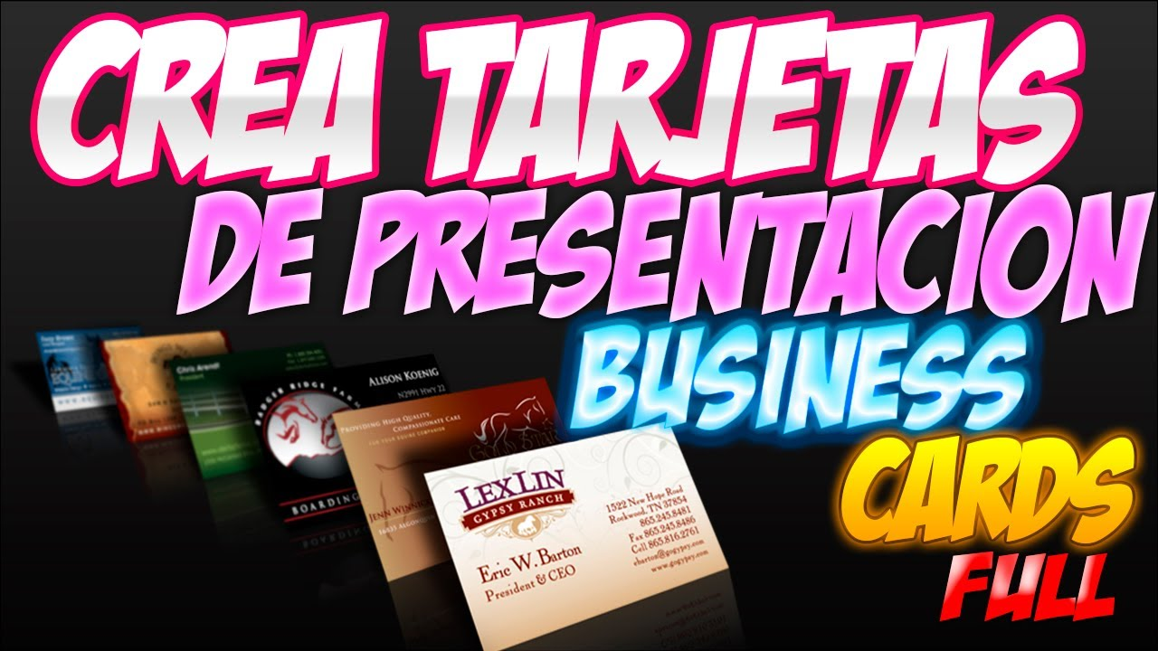 crea tarjetas de presentacion businesscards v5 0 full youtube