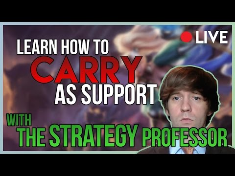 8/20/17 Stream -- How to Win As Support (View Night!) -- League of Legends