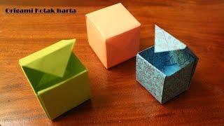 Cara membuat origami Kotak mudah