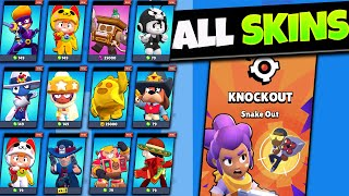 ALL SKINS And KNOCKOUT Gameplay | Brawl Stars Update Info
