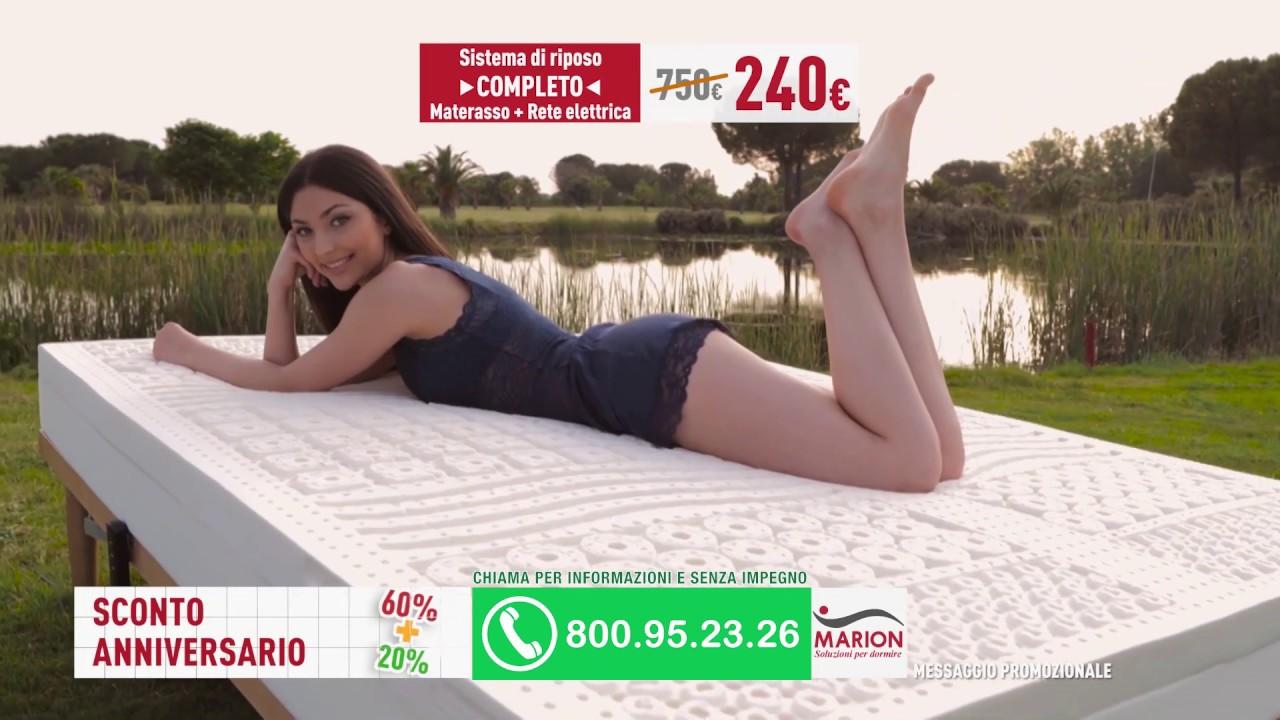 Marion Materassi Memory.Offerta Anniversario Sconto 60 20 Spot Marion Materassi 2019