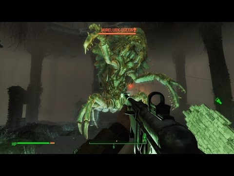 Fallout 4 Massachusetts State House Mirelurk Queen Fight (Survival Difficulty)