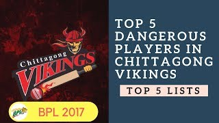 Top 5 Dangerous Players in Chittagong Vikings |  BPL 2017