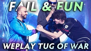 Best FAIL and FUN moments of WePlay Tug of War