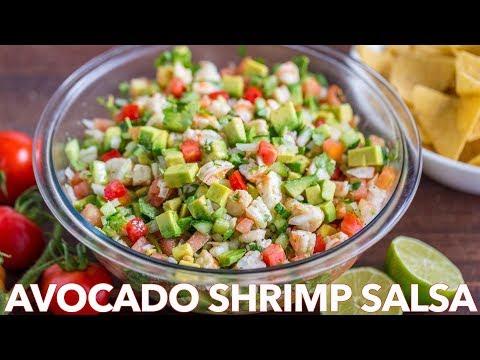 Loaded Avocado Shrimp Salsa Recipe Homemade Shrimp Salad