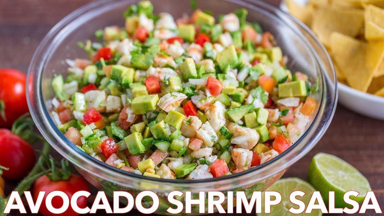 Loaded avocado shrimp salsa recipe natasha 39 s kitchen for Natashas kitchen