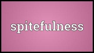 Spitefulness Meaning