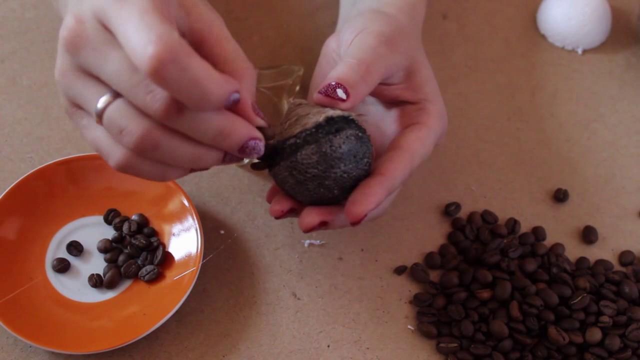 """DIY Coffee hedgehog / кофейный ёжик/ подарок кофеману/ """"Hameleon"""" Handmade ручная работа"""