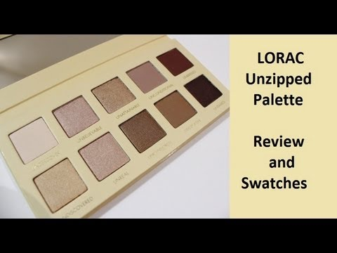Lorac Unzipped Palette - Review and Swatches