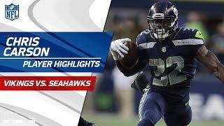 Rookie Chris Carson's Best Plays vs. Minnesota | Vikings vs. Seahawks | Preseason Wk 2 Highlights