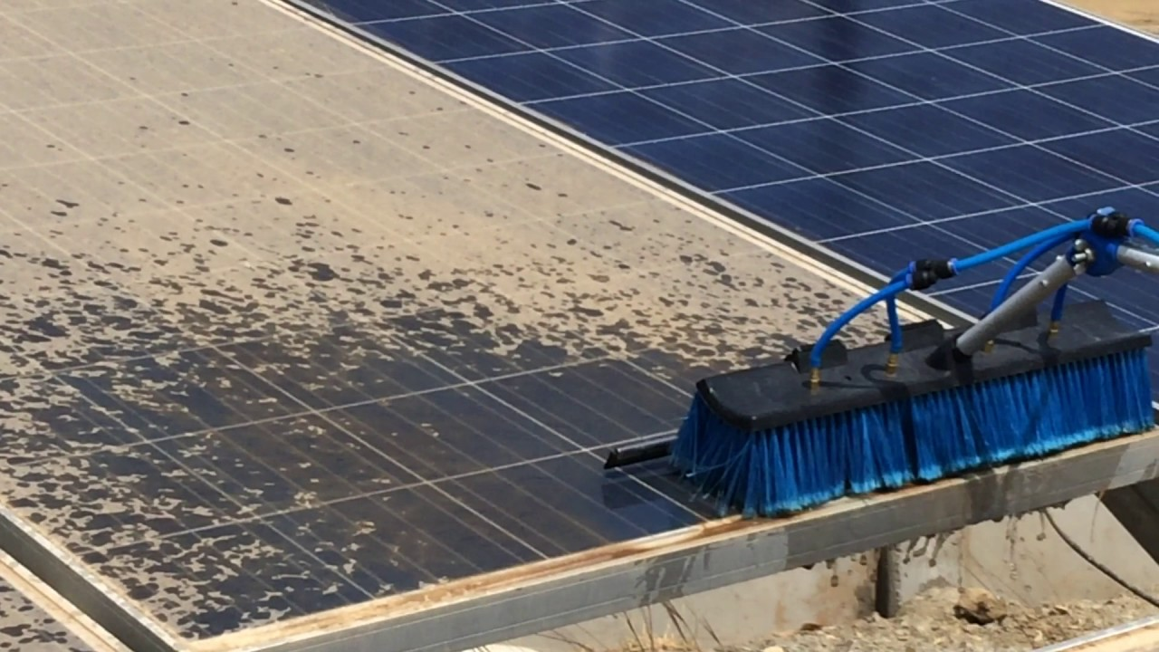 Solar Panel Cleaning In India Youtube