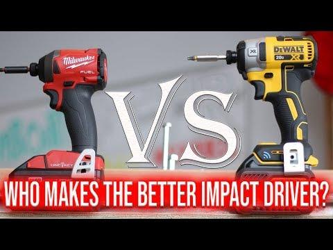 Milwaukee Tools VS DeWALT Tools - Who Makes The Best Impact Driver