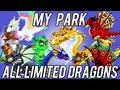 ALL LIMITED DRAGONS 2012 MY PARK Merry XMAS DragonVale