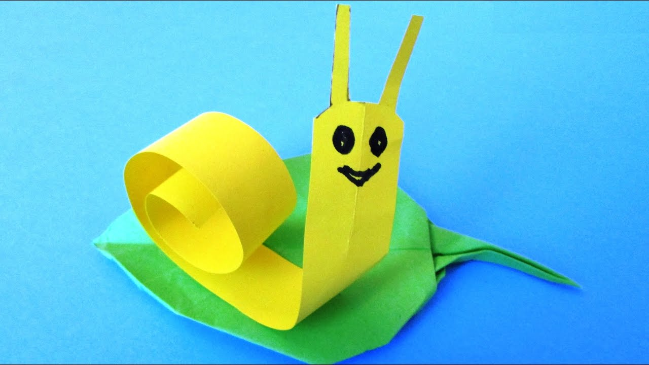origami facile escargot youtube. Black Bedroom Furniture Sets. Home Design Ideas