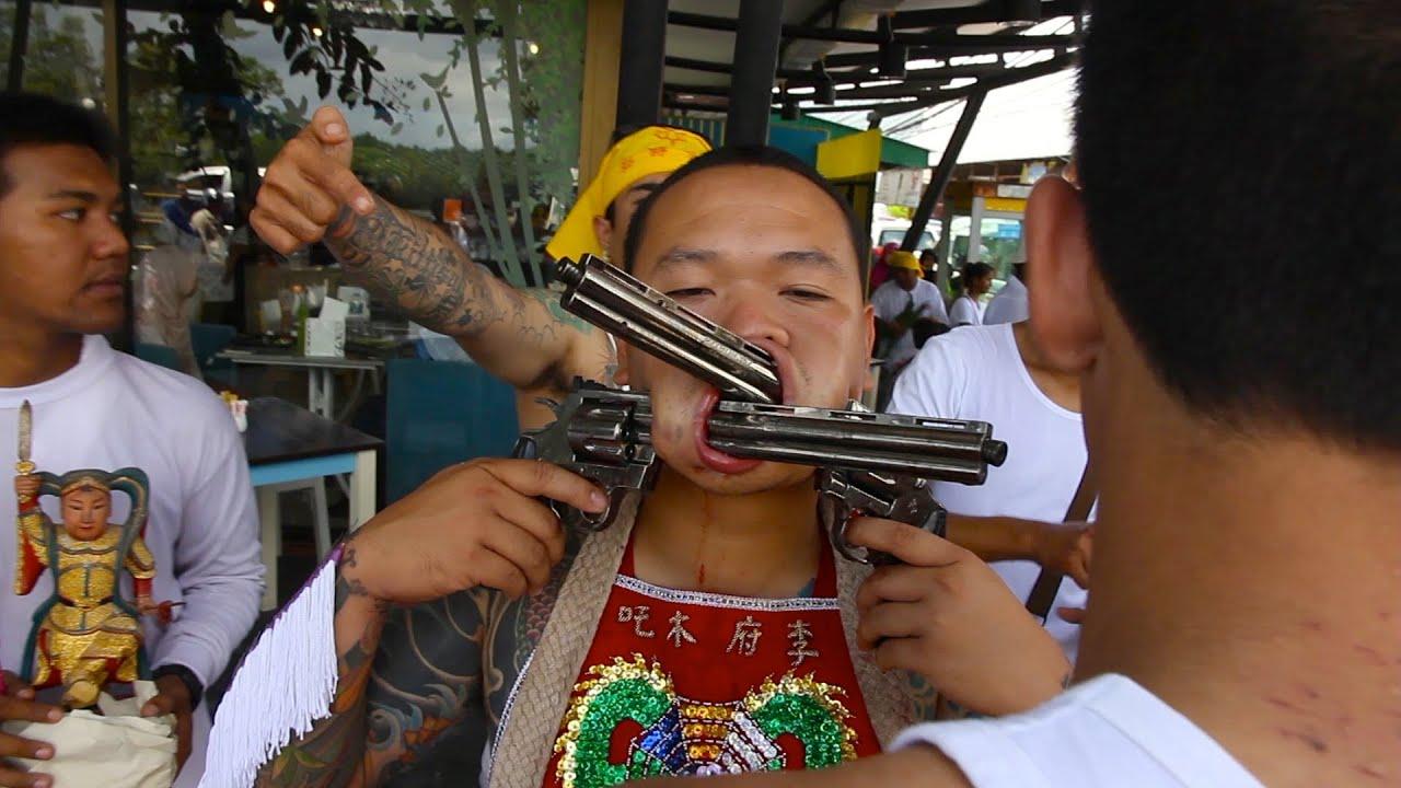 Bloody Vegetarian Festival in Thailand