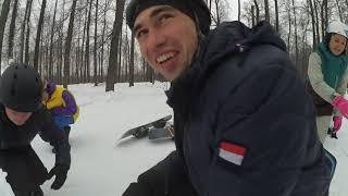 Обучение сноуборду Казань: Разминка