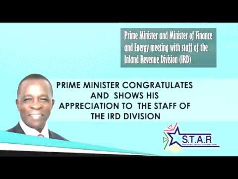 Prime Minister Keith Mitchell tours Ministry of Finance -- Inland Revenue Division (part 3)