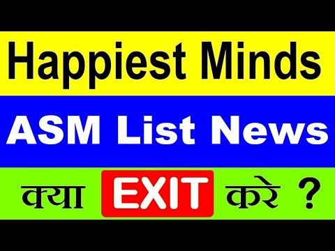 Happiest Minds Share ASM List News | Happiest Minds Tech Stock Price News | IT STOCKS News | SMKC