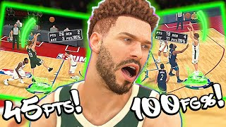 45 Points & We Didn't Miss A Single Shot! Best Point Guard Build in 2K20! - NBA 2K20 MyCAREER #4