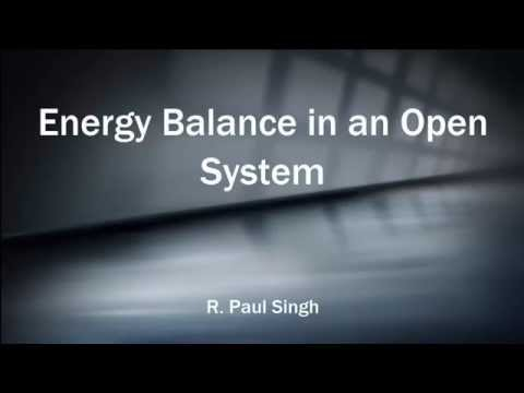 Energy Balance of an Open System