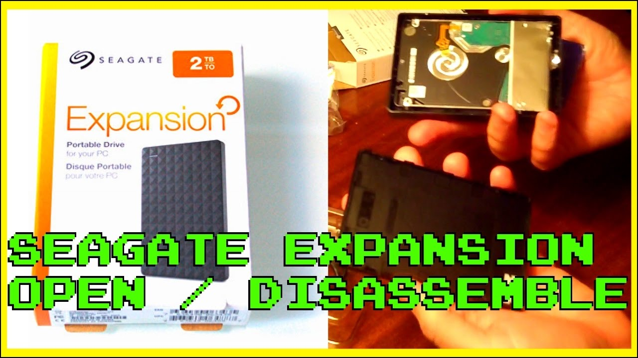 2tb Seagate Expansion Portable 2 5 Inch Hdd Open Disassemble Ps4