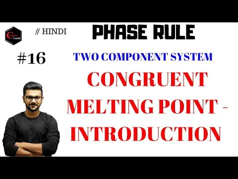 CONGRUENT MELTING POINT || PHASE RULE || PHASE DIAGRAM || TWO COMPONENT SYSTEM