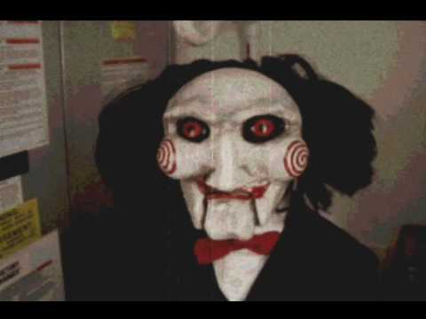 Jigsaw doll delivers message. - YouTube