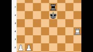 Chess Endgame: Rook + 2 Pawns vs. Rook