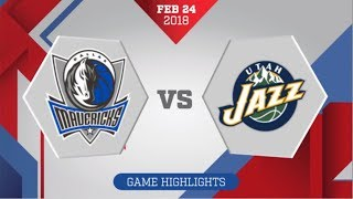 Dallas Mavericks vs Utah Jazz: February 24, 2018