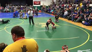 Hudson Babb 2018 Mattoon Youth Wrestling tournament Championship round
