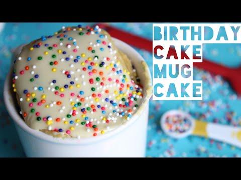 Healthy Birthday Cake Mug Cake Recipe | How To Make A Low Calorie Birthday Cake Mug Cake