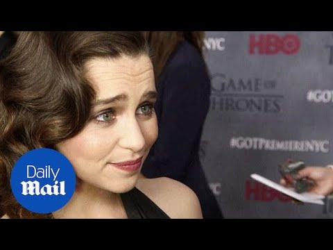 Emilia Clarke Dazzles At The Game Of Thrones Premiere - Daily Mail