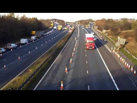 M1 closure traffic turn around