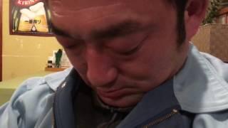 反省会で寝ている藤井隆君 2017年3月25日 叙勲のお祝い打上げ.