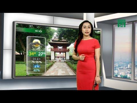 Thời tiết đô thị 09/08/2019: Thủ đô Hà Nội trời nhiều mây, có mưa ngắt quãng | VTC14