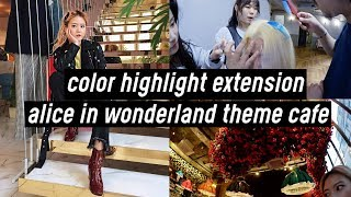 color highlight extensions in korea alice in wonderland theme cafe meet greet singapore   q2han