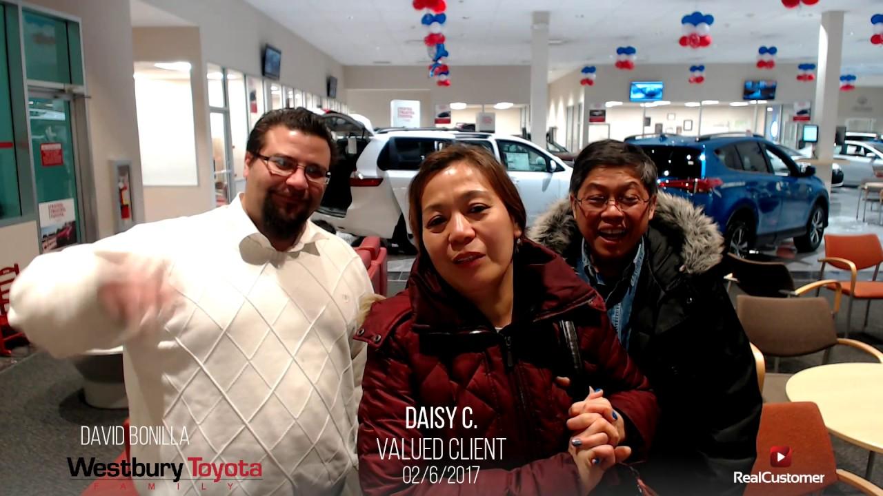 Daisy Reviews Westbury Toyota And David Bonilla